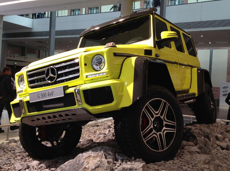Mercedes G500 4x4 Seite